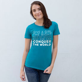 Women's Everyday Runners Tee - Give A Girl The Right Pair Of Shoes