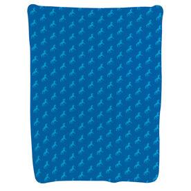 Running Baby Blanket - Boston Unicorn Pattern