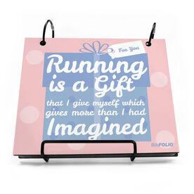 BibFOLIO® Race Bib Album - Running Is A Gift Artist Style