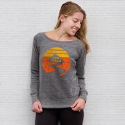 Running Fleece Wide Neck Sweatshirt - Run Trails Sunset