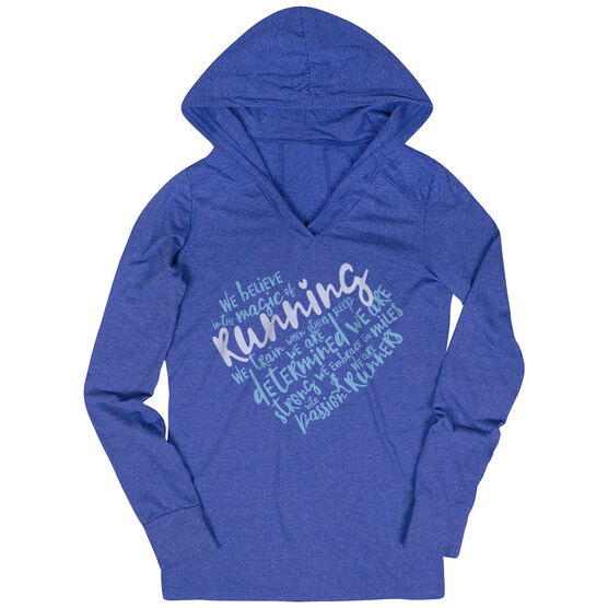 Women's Running Lightweight Performance Hoodie - Live Love Run Heart