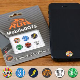 Gotta Run MobileDOTS Home Button Sticker for iPhone and iPad