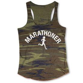 Running Camouflage Racerback Tank Top - Marathoner Girl