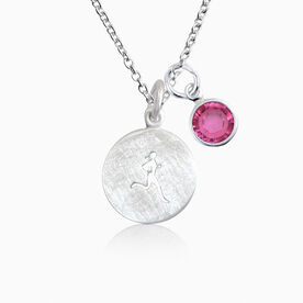 Livia Collection Sterling Silver Matte Runner Girl Necklace