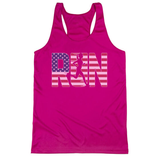 Women's Racerback Performance Tank Top - Run Girl USA