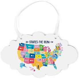 Running Cloud Sign - States I've Run (Dry Erase)