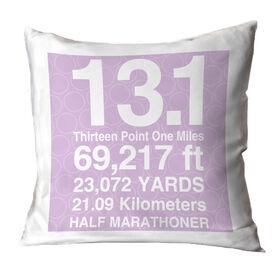 Running Throw Pillow 13.1 Math Miles