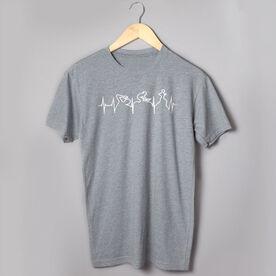 Triathlon Short Sleeve T-Shirt - Heart Beat Tri