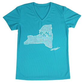 Women's Running Short Sleeve Tech Tee New York State Runner