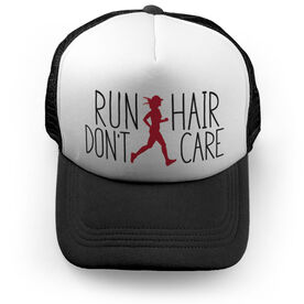 Running Trucker Hat Run Hair Don't Care