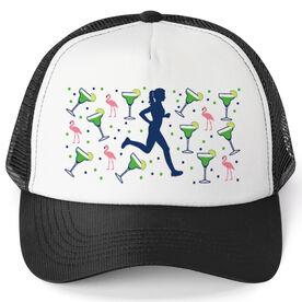 Running Trucker Hat - Margaritas Female Runner