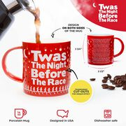 Soleil Home™ Running Porcelain Mug - Twas the Night Before the Race