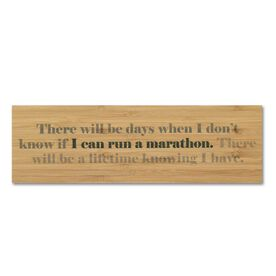 """Running 12.5"""" X 4"""" Printed Bamboo Removable Wall Tile - I Can Run A Marathon"""