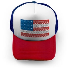 Triathlon Trucker Hat - Flag With Elements