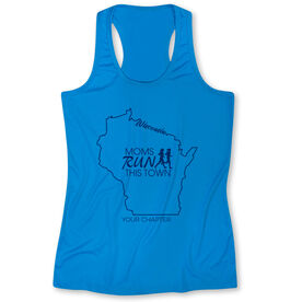 Women's Performance Tank Top - Moms Run This Town Wisconsin Runner