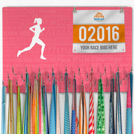 Running Large Hooked on Medals and Bib Hanger - Inspiration Female