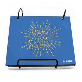 BibFOLIO® Race Bib Album - Run With Sunshine