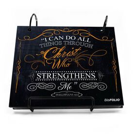 BibFOLIO® Race Bib Album - I Can Do All Things Through Christ Chalkboard