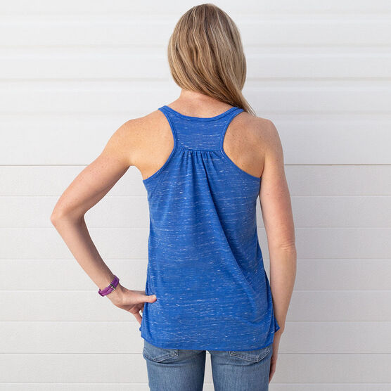 Flowy Racerback Tank Top - Kiss A Lucky Runner