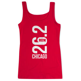 Running Women's Athletic Tank Top - Chicago 26.2 Vertical