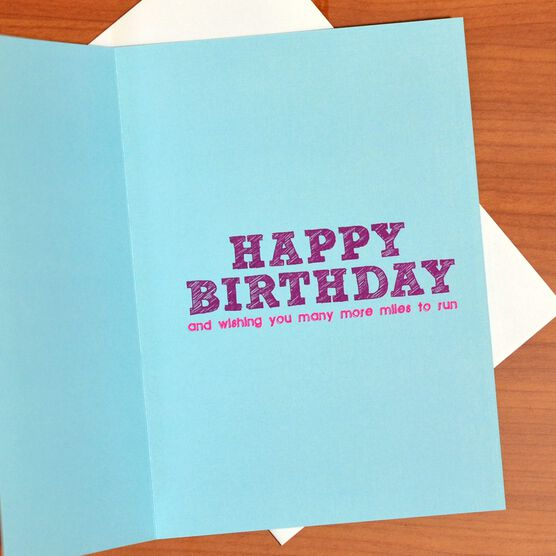 Runners Birthday Cake Greeting Card