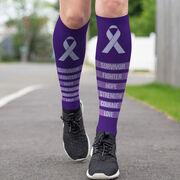 Running Printed Knee-High Socks - Stronger Than Ever