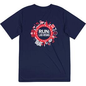 Men's Running Short Sleeve Performance Tee - Run for Las Vegas