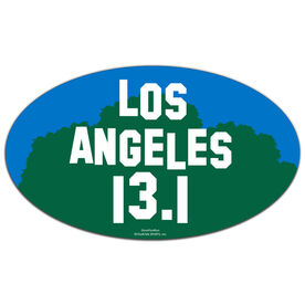 Los Angeles 13.1 Oval Car Magnet