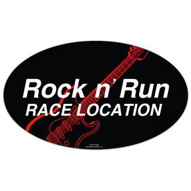 Rock n' Run Oval Car Magnet
