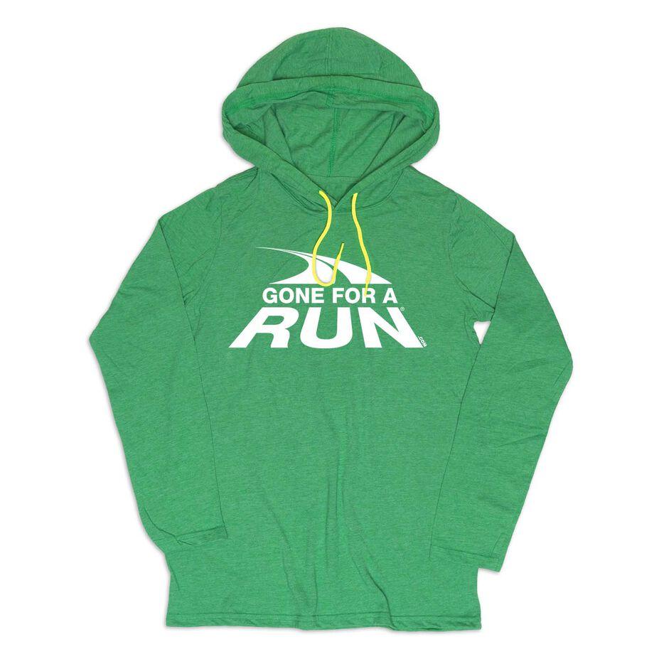 Women's Running Lightweight Hoodie - Gone For a Run White Logo