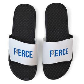 Running White Slide Sandals - Fierce