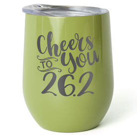 Running Stainless Wine Tumbler - Cheers To You 26.2