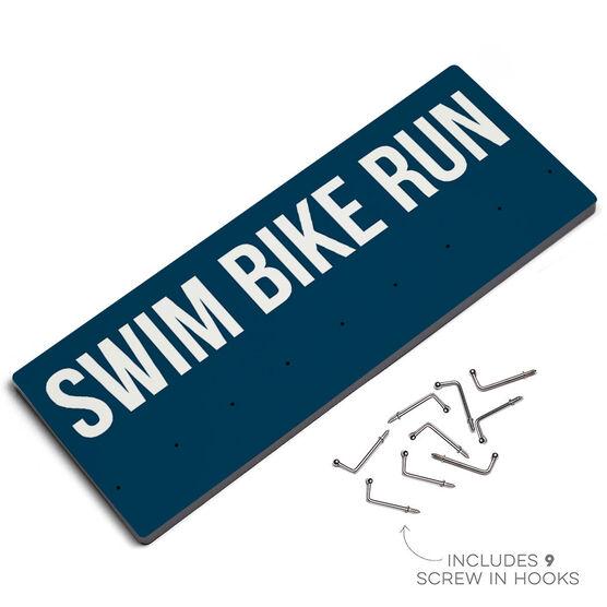 Triathlon Hooked on Medals Hanger - Swim Bike Run
