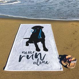 Running Premium Beach Towel - Never Run Alone
