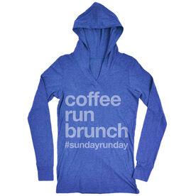 Women's Running Lightweight Performance Hoodie - Coffee Run Brunch
