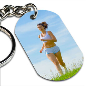 Custom Photo Printed Dog Tag Keychains