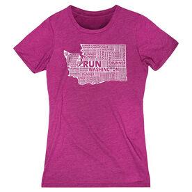 Women's Everyday Runners Tee Washington State Runner