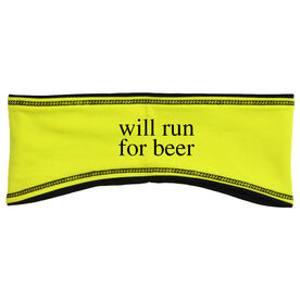 Running Reversible Performance Headband Will Run For Beer