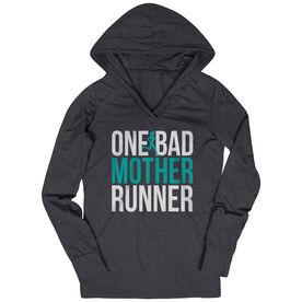Women's Running Lightweight Performance Hoodie - One Bad Mother Runner (Bold)