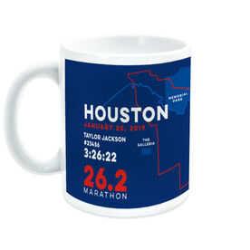 Running Coffee Mug - Personalized Houston Map