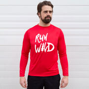 Men's Running Long Sleeve Tech Tee - Run Wild Sketch