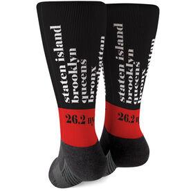 Running Printed Mid-Calf Socks - Run Mantra (NYC)