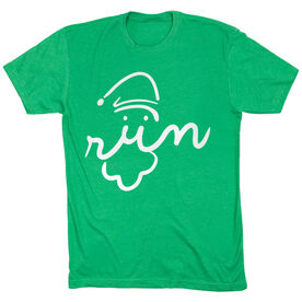 Running Short Sleeve T-Shirt - Santa Run Face