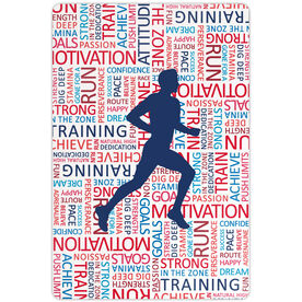 """Running 18"""" X 12"""" Aluminum Room Sign - Inspirational Words Male"""