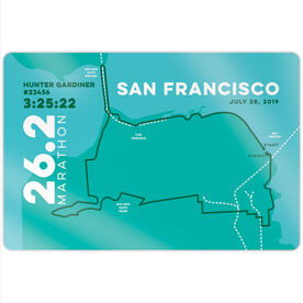 "Running 18"" X 12"" Wall Art - Personalized San Francisco Map"