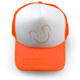 Running Trucker Hat Run and Be Happy