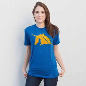 Running Short Sleeve T-Shirt - Boston Spirit - Runner Girl