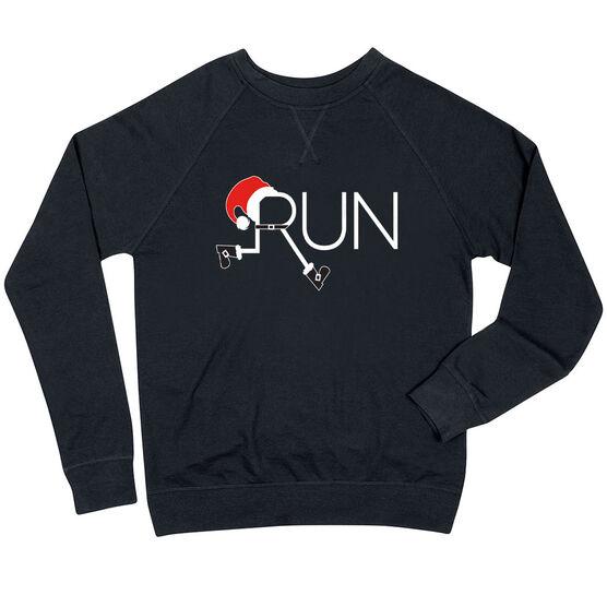 Running Raglan Crew Neck Sweatshirt - Let's Run For Christmas