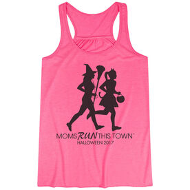 Flowy Racerback Tank Top - Moms Run This Town Halloween