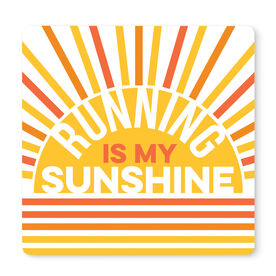 """Running 12"""" X 12"""" Removable Wall Tile - Running Is My Sunshine"""